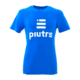 Front Mockup Piutre della T-shirt Linea Gol Azzurra