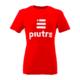 Front Mockup Piutre della T-shirt Linea Gol Rossa