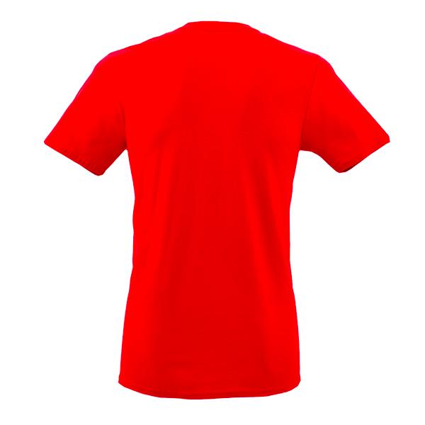 Back Mockup Piutre della T-shirt Linea Gol Rossa