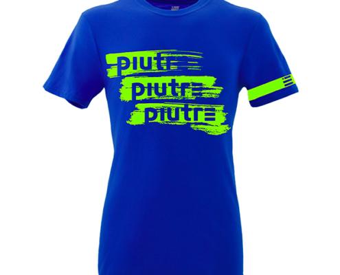 Front Mockup Piutre della T-shirt Gol Plus Pennellata Giallo Fluo