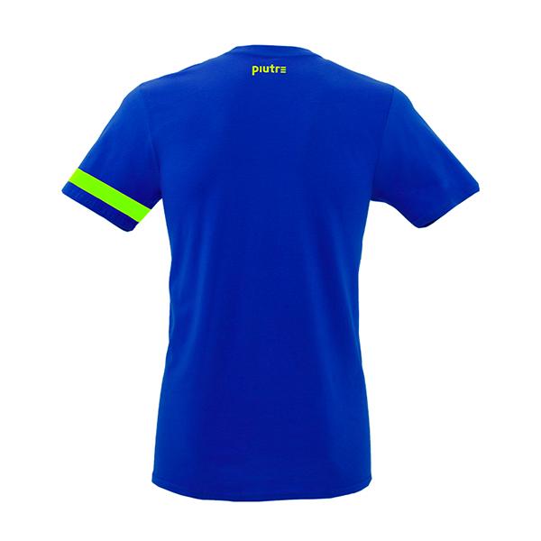 Back Mockup Piutre della T-shirt Gol Plus Pennellata Giallo Fluo