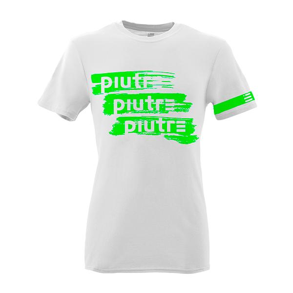 Front Mockup Piutre della T-shirt Gol Plus Pennellata Verde