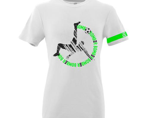Front Mockup Piutre della T-shirt bomber rovesciata