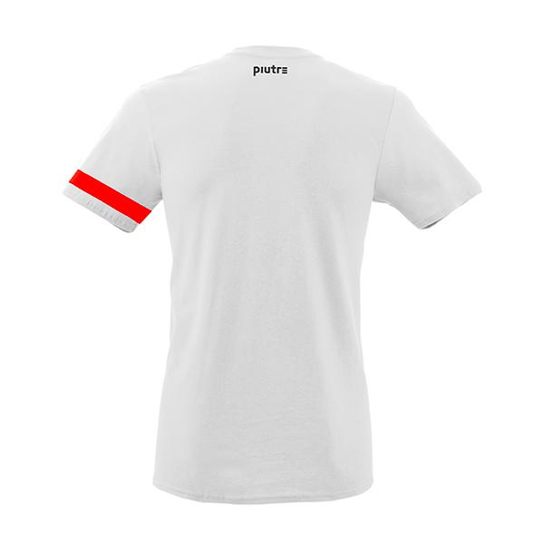 Back Mockup Piutre della T-shirt bomber Scivolata