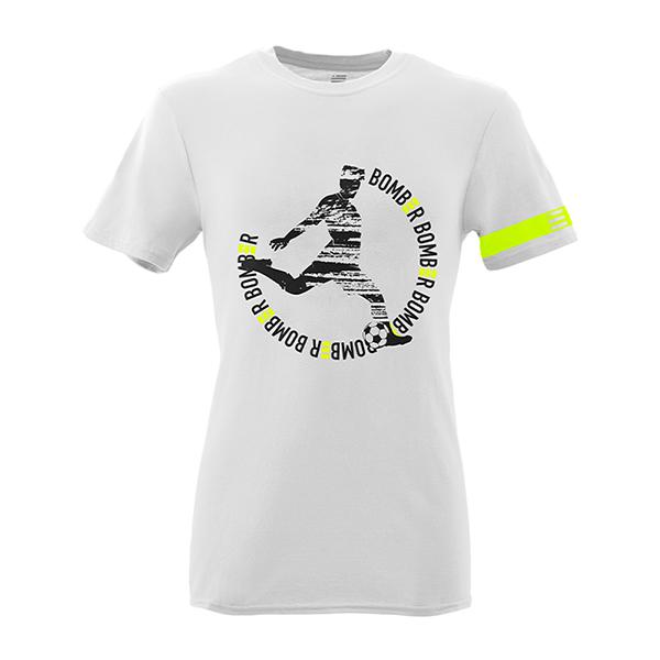 Front Mockup Piutre della T-shirt Linea Bomber Tiro