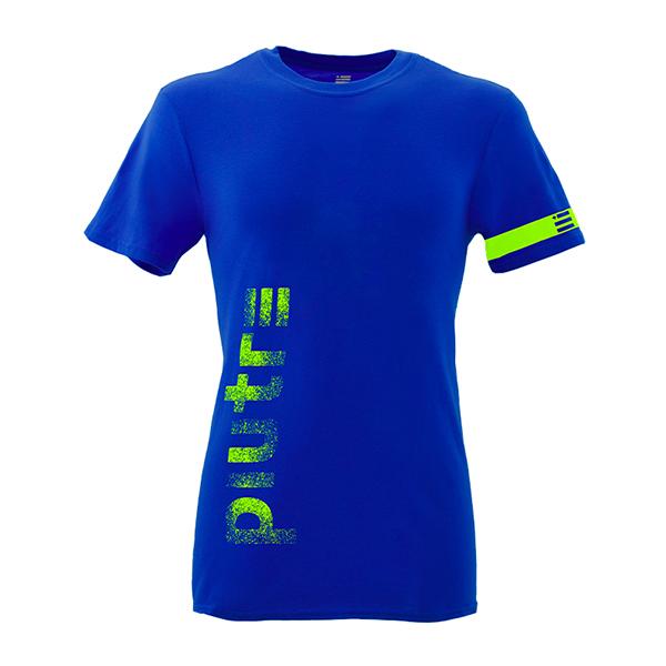 Front Mockup Piutre della T-shirt Gol Plus Verticalizza