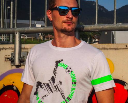 maglietta Piutre, T shirt piutre linea bomber rovesciata
