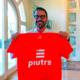 Stefano Fiore con la t shirt linea gol di Piutre