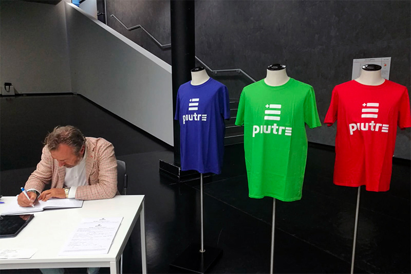 T-shirt Piutre, evento Parma, la cultura si fa sport, sponsor