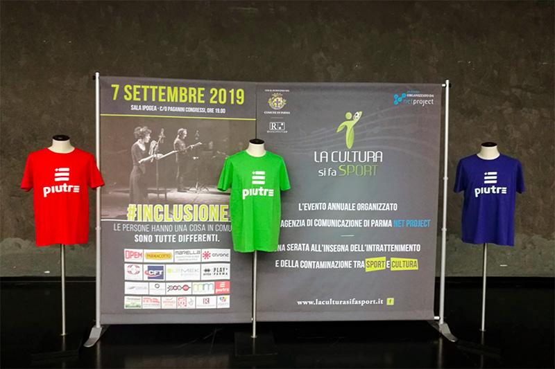 Magliette Piutre, evento Parma, la cultura si fa sport, sponsor,