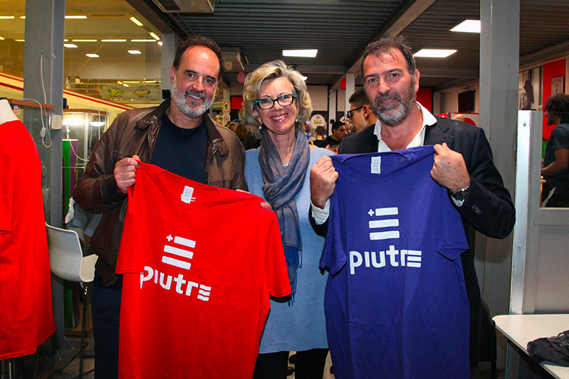 Tshirt Piutre, Marco Osio e Alessandro Melli, evento Parma, PalaSprint, sponsor, palestra abbigliamento