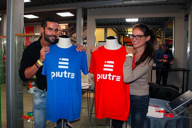 Tshirt Piutre, evento Parma, PalaSprint, sponsor, palestra abbigliamento