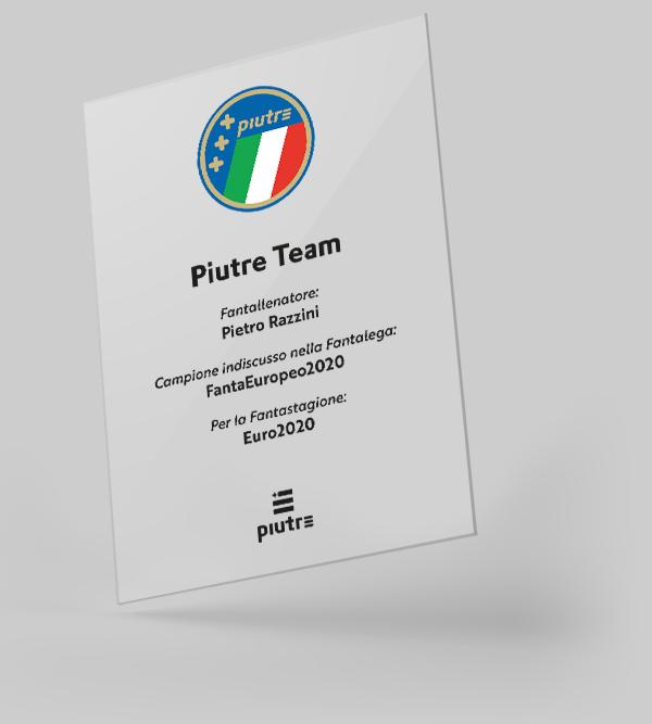 Targa personalizzata Fantaeuropeo campione 2021