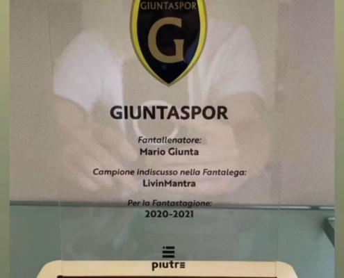 Targa personalizzata Piutredi Mario Giunta, giornalista Sky
