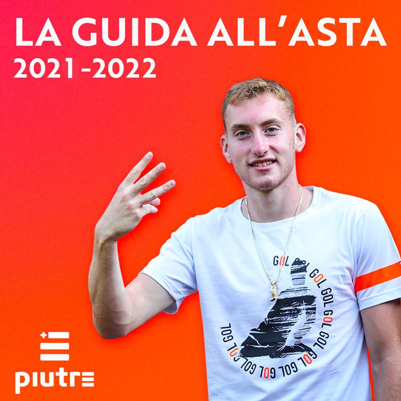 Dejan Kulusevski indossa la maglietta Piutre linea Bomber Scivolata e presenta la Guida all'Asta 2021